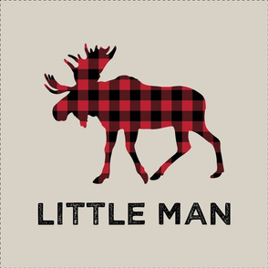 "18"" square panel w/ cut lines - moose (beige) - Little Man"