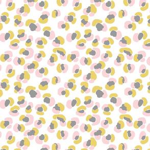 Petite Cheetah - Gray, Mustard, Pink