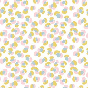 Petite Cheetah - Blue, Mustard, Pink