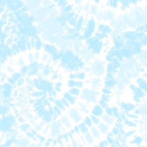 light blue tie dye swirls - C20BS