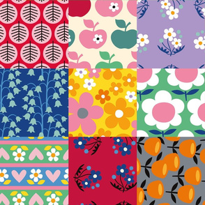 Cheater Quilt LARGESCALE (retro brights)