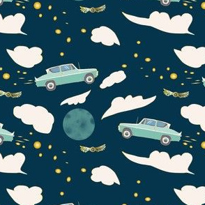 Flying Ford Anglia, Navy, Small