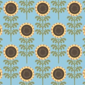 Gee Golly Gosh - Sunflowers - Blue