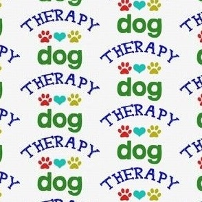 Therapy dog fabric
