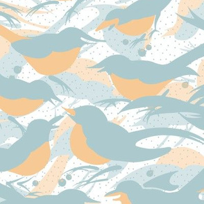 Birds Morning Chatter Large | White