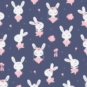 Little Bunny Ballerina - navy