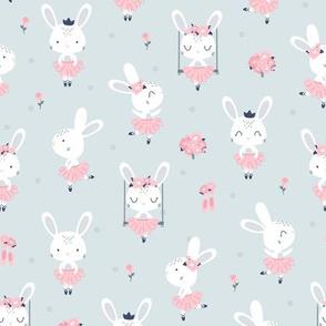 Little Bunny Ballerina - gray