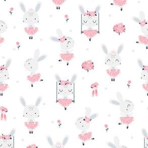 Little Bunny Ballerina - white
