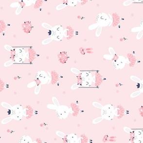 Little Bunny Ballerina - pink rotated