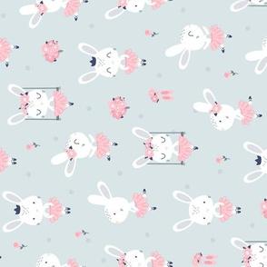 Little Bunny Ballerina - gray rotated
