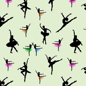 Dancing Ballerinas #11 - mint green