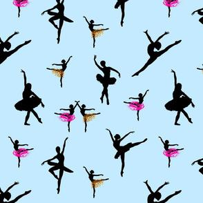 Dancing Ballerinas #2 - swan lake blue