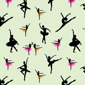 Dancing Ballerinas #2 - mint green