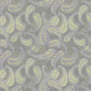 Paisley Dot - sulphur