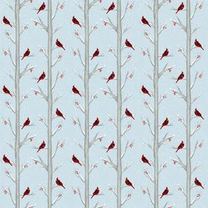 Cardinal Birds On A Winter Day - Smaller Scale