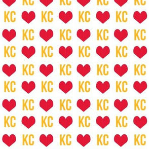 kc love - kansas city fabric - red and yellow