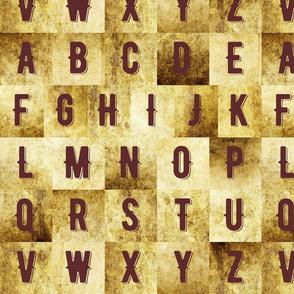 Vintage alphabet large