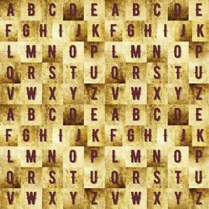 Vintage alphabet small