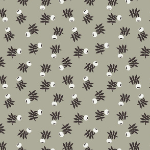 flower fabric - earth tones 2020 fabric - sfx0110 sage