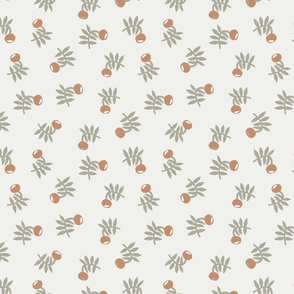 flower fabric - earth tones 2020 fabric - sfx1328 sandstone sage