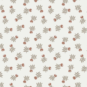 flower fabric - earth tones 2020 fabric - sfx1227 taupe cafe