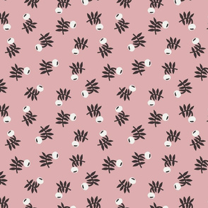 flower fabric - earth tones 2020 fabric - sfx1611 powder pink