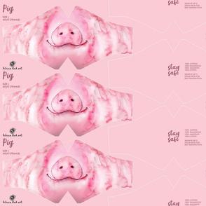 L Pig Face Mask - adult (female/teenager) size - face masks, masks, facemask