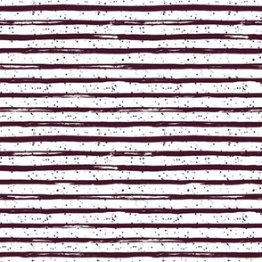"8"" Crimson Stripes with  White Back"