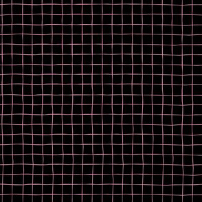 Pink Grid on Black