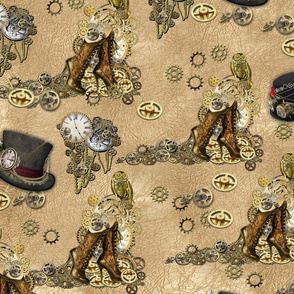 Steampunk boots and hats