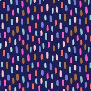 rainbow spots // candied navy