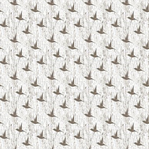 BKRD Hummingbirds - Brown White 2x2