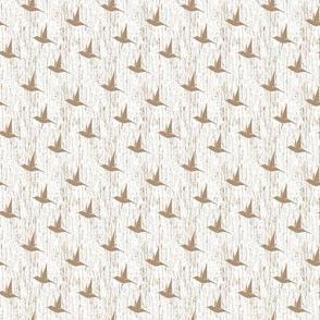 BKRD Hummingbirds - Taupe White 2x2