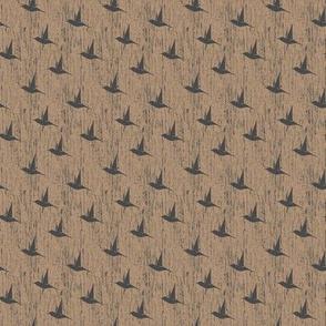 BKRD Hummingbirds - Charcoal Taupe 2x2