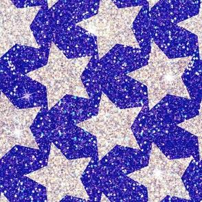Royal Silver Stars glitter
