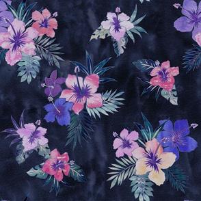 Hawaii floral 3 indigo