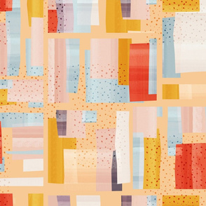 Abstract Blocking - Peach