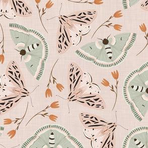 Moths Coordinate - Pink