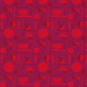 Red Speckled Abstract