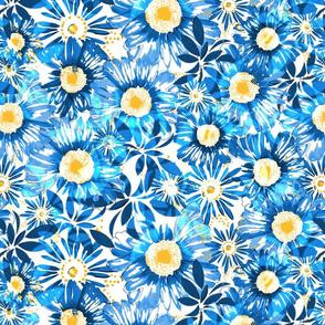 huge flowers blue