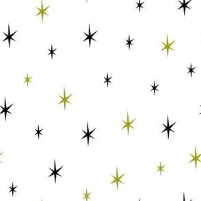 Stars green and black
