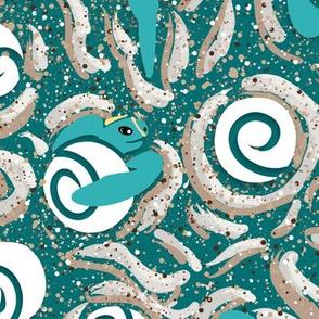 Moon Babies Small | Sea Turtles | Teal Green