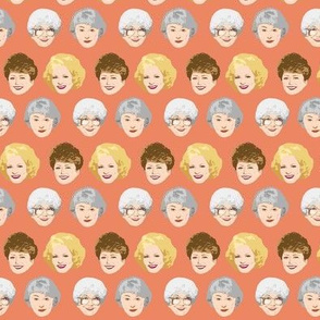 Golden Girls Faces - Small Coral