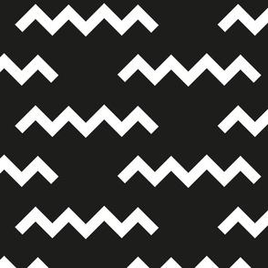 Black Memphis zig zag-large scale