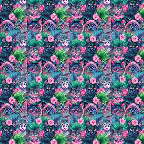 Summer floral cats - xsmall