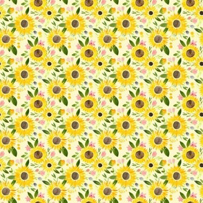 Sunflower Fields on Pale Yellow - extra small