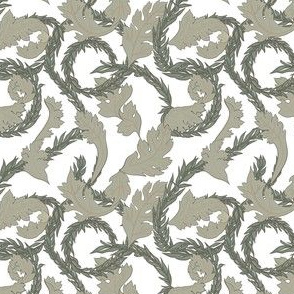 Acanthus pattern on white background