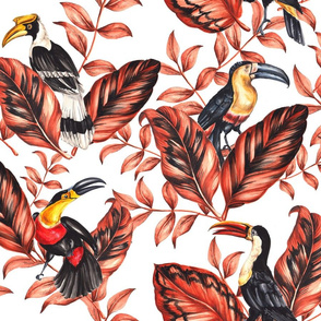 Toucans and Leaves - Big Scale