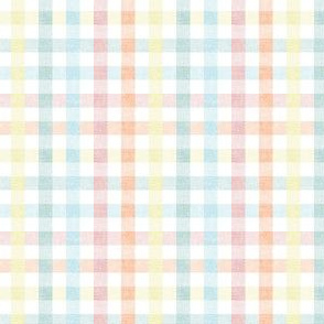 (small scale) Easter Plaid - Spring Plaid - pastel- Gingham Check - C20BS