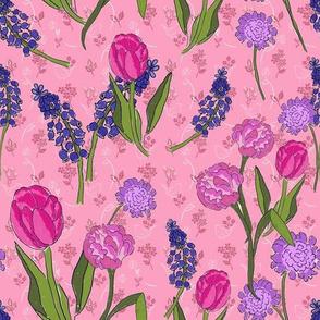 Tea Party in the Garden in Pink